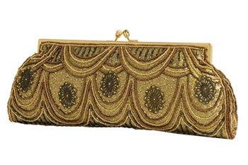 Carlo Fellini - Lily Evening Bag (Antique Gold)