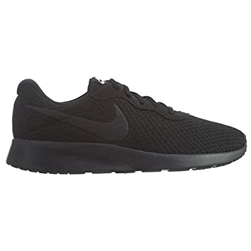 Nike Womens Tanjun Black/Black White Running Shoe 7 Women US