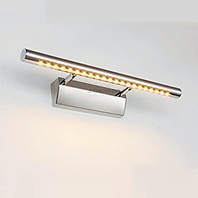 LED Picture Light, Full Metal Artwork Lamp with Swivel Lamp Head, 3000K Warm White, 640Lm,Chrome Finish,Mirror Wall Lamp, Bathroom Lighting With Switch