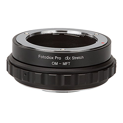 Fotodiox DLX Stretch Lens Mount Adapter - Olympus Zuiko (OM) 35mm SLR Lens to Micro Four Thirds (MFT, M4/3) Mount Mirrorless Camera Body with Macro Focusing Helicoid and Magnetic Drop-In Filters by Fotodiox