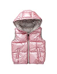 BESBOMIG Unisex Quilted Waistcoat Jacket Gilet - Cute Waterproof Vest Girls Boys