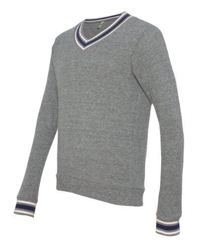 Alternative Apparel - Eco Cashmere V-Neck Sweatshirt, Eco Gray Medium