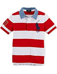Ralph Lauren Polo Boys Big Pony Cotton Mesh Rugby Shirt (4 4T)