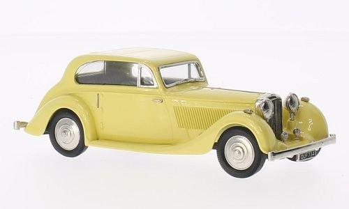 Bentley 4 1/4 Litre, Barker, hellgelb, 1936, Modellauto, Fertigmodell, Brooklin 1:43