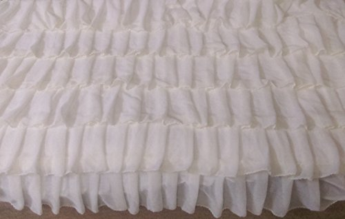 White Chiffon Layered Decorative Full Bedspread by DecorWithShams