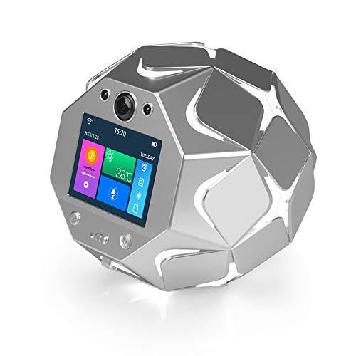 (JINRU Night Light Bluetooth Speaker, Portable Wireless Bluetooth Speakers, Color LED Speaker, Bedside Table Light, Speakerphone/Alarm Clock/Memo Broadcast/App Control/Voice Prompt/Have A)