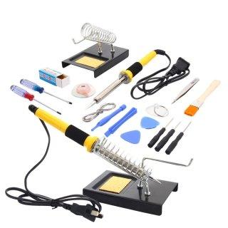 Xenia 18 en 1 110V sistema de Kit de herramientas 60W soldador con hilo de estaño hierro soporte desoldar de la bomba: Amazon.es: Electrónica