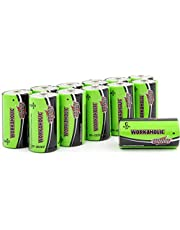 Interstate Batteries C Cell Alkaline Battery (12 Pack) All-Purpose 1.5V High Performance Batteries - Workaholic (DRY0080)