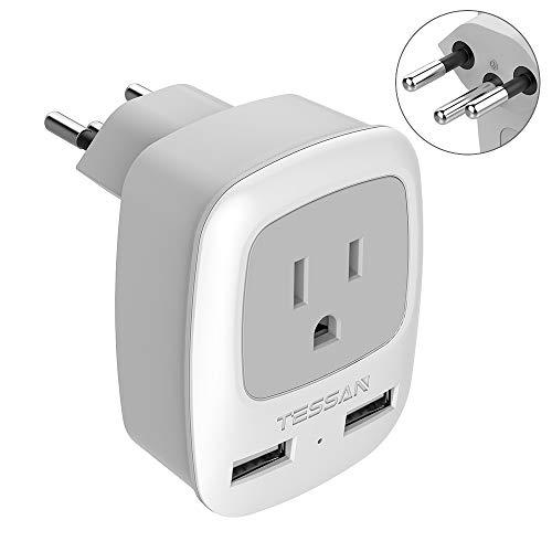 Switzerland Power Adapter Travel Plug, TESSAN Swiss