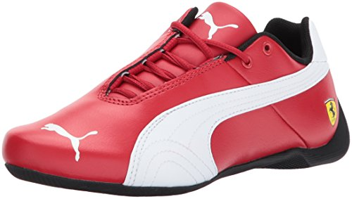 PUMA Unisex-Kids Ferrari Future Cat Sneaker, Rosso Corsa White, 7 M US Big Kid