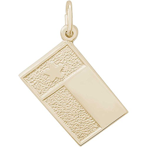as State Flag Charm, Gold Plated Silver (Flag Charm Gold Plated)