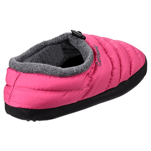 Cotswold Slippers Collar Soft Pink Camping Ladies Faux Womens Padded Fur 8qSrw8U