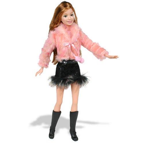 J1413 Fur Pink Jacket Barbie Fashion Fever Doll by Barbie