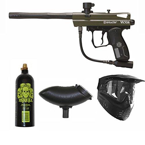 Spyder Victor Paintball Marker Gun 3Skull Package Set