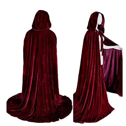 mywaxberry Halloween Party,Death Witch Long Cloak -