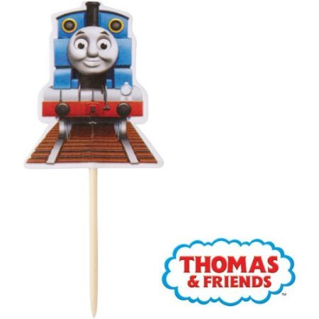 Wilton 2113-4243 Thomas and Friends Fun Cupcake/Cake Pix, 24-Pack]()