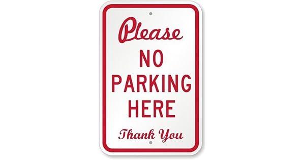 Amazon.com: Un ojo sonriente, por favor, no aparcar aquí ...