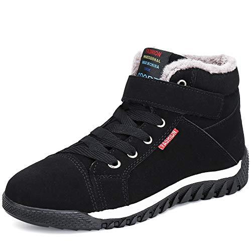 Caviglia Stivali Stringate Pelliccia Invernali Boots Uomo Caldo Stivaletti Nero Neve Scarpe Pastaza Stivali xpIZfwZ