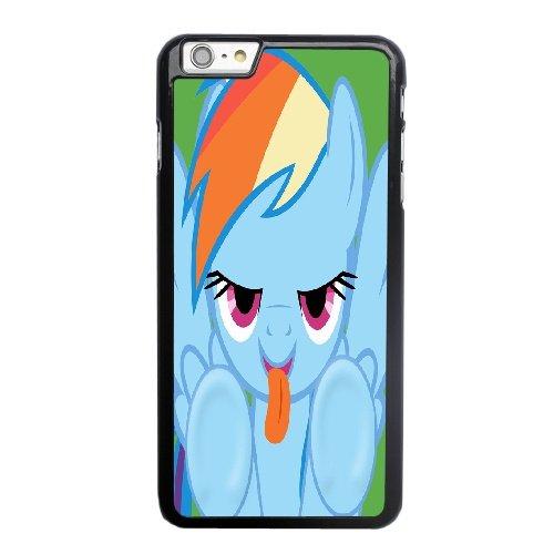 Coque,Apple Coque iphone 6 6S plus (5.5 pouce) Case Coque, Generic Rainbow Dash Licking Screen Cover Case Cover for Coque iphone 6 6S plus (5.5 pouce) Noir Hard Plastic Phone Case Cover