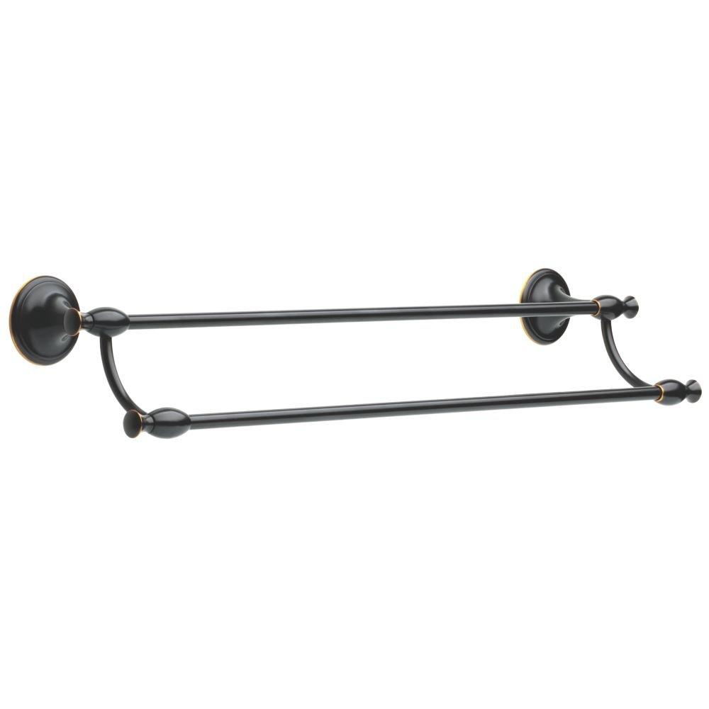 Delta 137240 meridian bath hardware accessory 24 double - Oil rubbed bronze towel bars for bathrooms ...