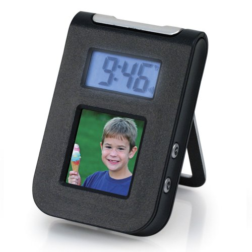 1.5 Digital Photo Keychain with Travel Alarm Clock (Travel Alarm Clock Photo)