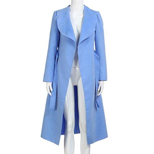 Rompevientos Fiesta De Largos Abrigos Mujer Bolsillos youth® Invierno Chaquetas Azul K Elegantes Outcoat w4v6FqZ