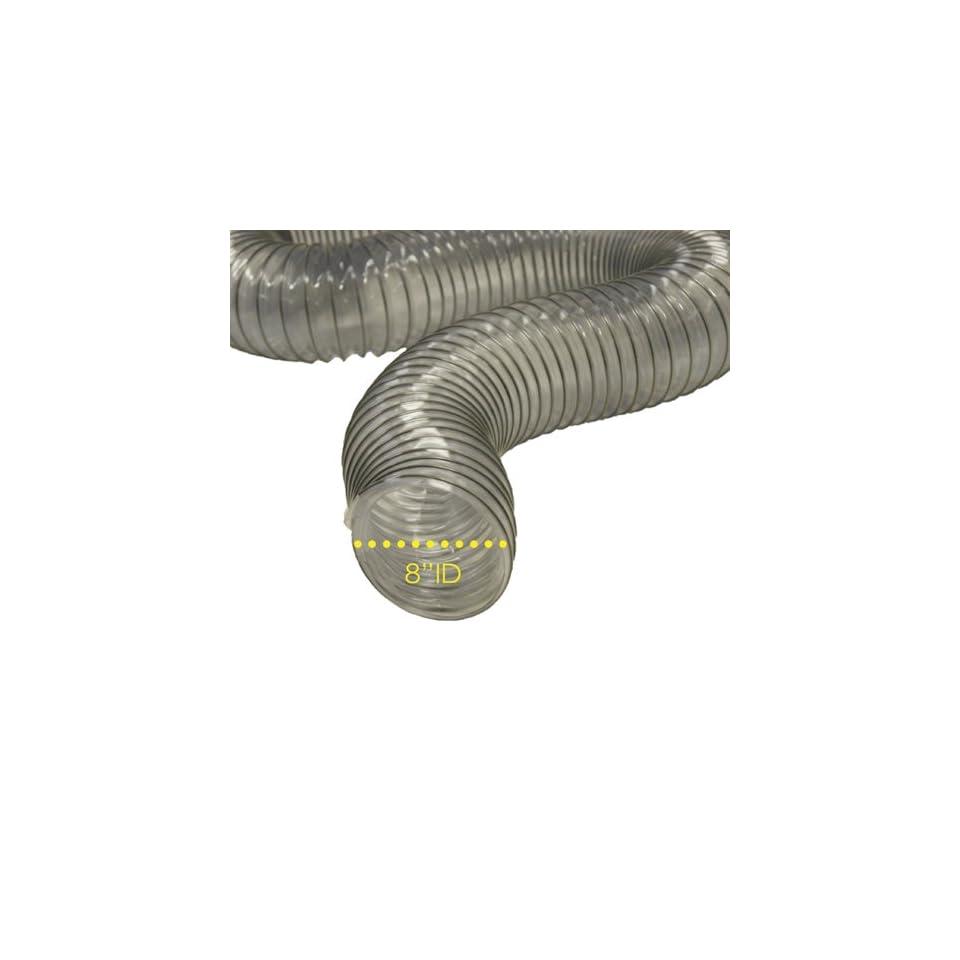 PVC Flexduct (Light Duty) Clear   Vent Hose   10 ID x 12.5ft Length Hose (Fully Stretched)