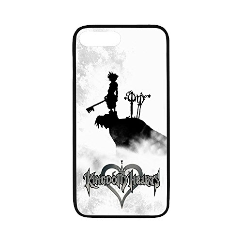 (Personalized iPhone 7Plus Hard Shell TPU Rubber Coated Phone Case Cover for iPhone 7 Plus - Kingdom Hearts -i7P870)