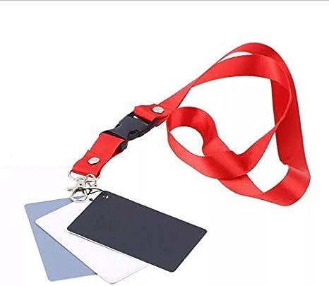 بطاقات توازن اللون اسود ,ابيض ,رمادي بنسبة 18 بالمئة 3 في 1 مع حمالة