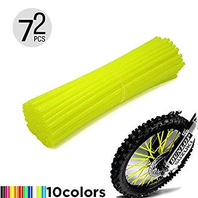 Motorcycle Spoke Skins, 72pcs/lot 17cm Universal Colorful Motocross Dirt Bike Spoke Covers for 8