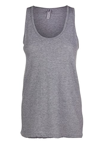 Sofra Womens Loose Relaxed Flowy Medium Heather