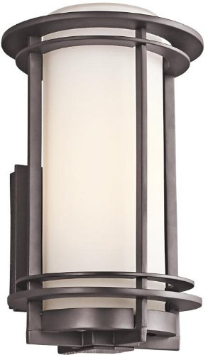 Kichler 49345AZ Pacific Edge Outdoor Wall 1-Light, Architectural Bronze