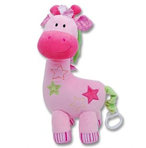 Pink Musical Giraffe Plush  Playing Twinkle  Twinkle Little Star
