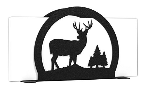 DEER BUCK Wildlife Metal Letter Napkin Card Holder