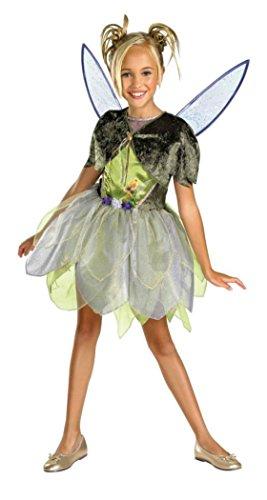 [Girls Tinker Bell Deluxe Kids Child Fancy Dress Party Halloween Costume, S (4-6)] (Disney Tinker Bell Kids Sparkle Shoes)