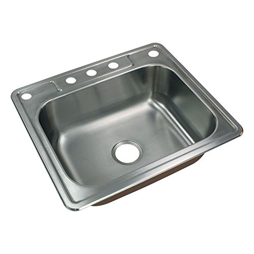Transolid CTSB25228-5 Kitchen Sink, 25-in L x 21-in W x 8-in H, Stainless Steel by Transolid