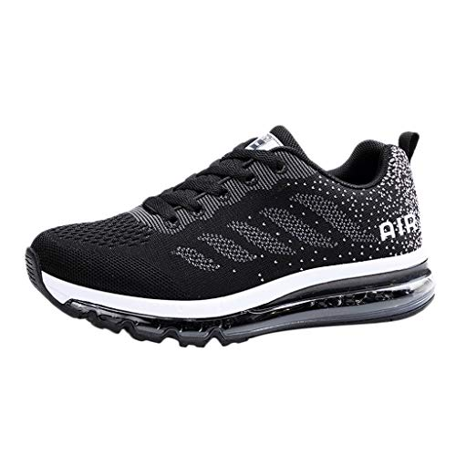 ANOKA Sneakers for Girls Sale Couple Walking Casual Shoes Air Cushion Running Jogging Sports Sneakers Black Size 5.5 (All Red Air Max 90 For Sale)