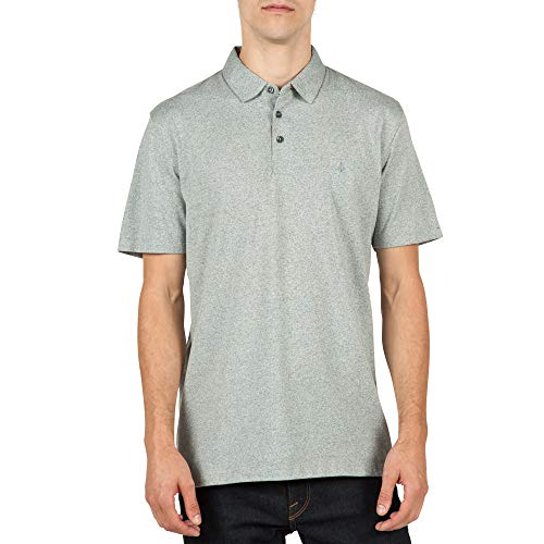 Volcom Men's Wowzer Modern Fit Polo, Pewter, Small