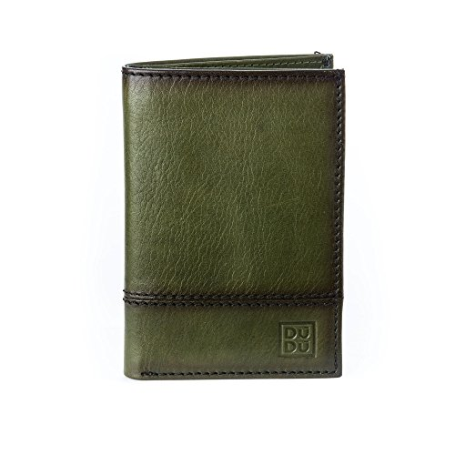 594 credit holder men slots wallet Slim vertical in DUDU Green Wallet leather 1703 ~ with for card 9 Havana SO8fwYq