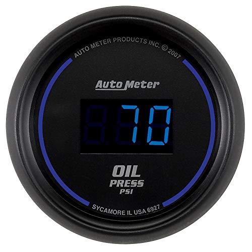 (Autometer Cobalt Digital 52.4mm Black 0-100psi Oil Pressure Gauge (am6927) )