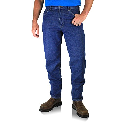 Carhartt Men's 101512 Relaxed Fit Five Pocket Tapered Leg Jean - 32W x 34L - Darkstone