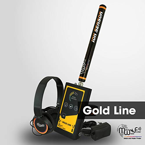 MWF Gold LINE Metal Detector - Professional Geolocator Long Range Detector | Underground Depth Scanner & Distance Targeting | Find Gold Fields, Gold Nuggets, Gold Coins, Gold Jewelry, Larger Treasure