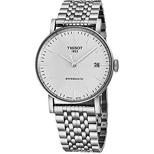 Tissot T109.407.11.031.00 – Reloj automático de Acero Inoxidable para Hombre, diseño de Cara analógica Blanca, 40 mm, con Fecha y Cristal de Zafiro