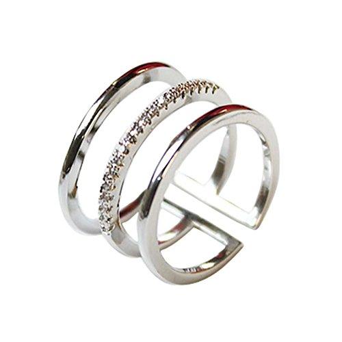 Diamant-Ring einfach wilde Art und Weise einzigartige Damen Accessoires prägnant