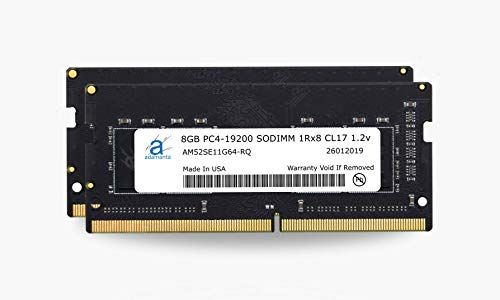 Adamanta 16GB (2x8GB) Laptop Memory Upgrade DDR4 2400Mhz PC4-19200 SODIMM 1Rx8 CL17 1.2v Notebook RAM DRAM
