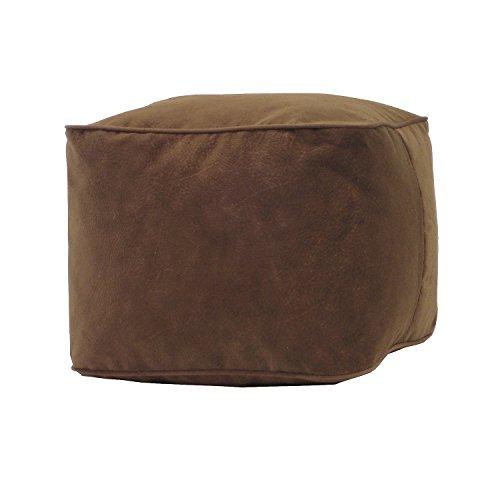 (Gold Medal Bean Bags Small Micro-Fiber Suede Ottoman, Cocoa)