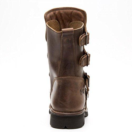 New Rock Boots M.373x-s9 Gotico Hardrock Punk Unisex Stiefel Braun