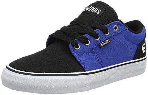 Etnies Men's Barge LS Skateboarding Shoe, Black/Blue/White, 9 M - Black Shoes Skateboarding