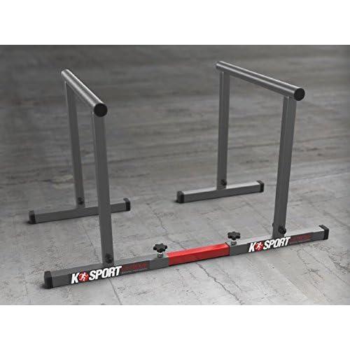 Fitness parallèles à la traction Barre ksh0009Paire de barres Parallèles métalliques Basse 48cm H