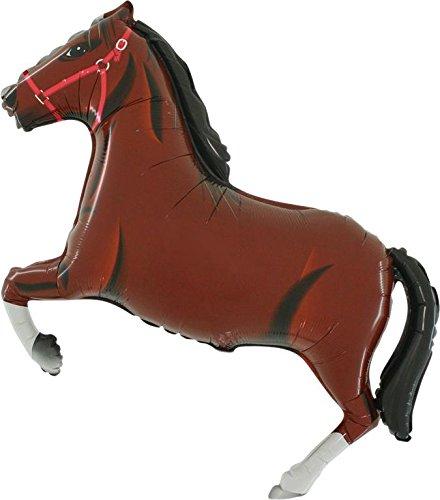 Grabo 33 Inch Dark Brown Horse Shaped Foil Balloon (cs49) HORSEDB